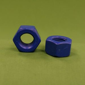 7/8-9 Heavy Hex Nuts ASTM A194 Grade B8 Blue Xylan: The